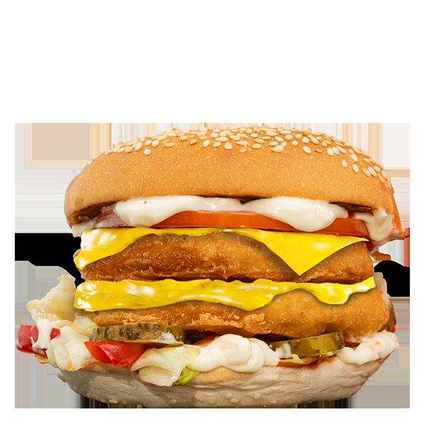 Cheesy Dublu Pui Burger